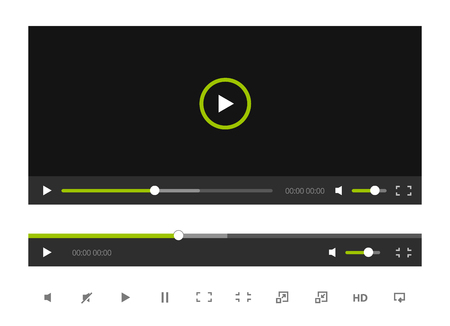 video player: Video Player Template Illustration