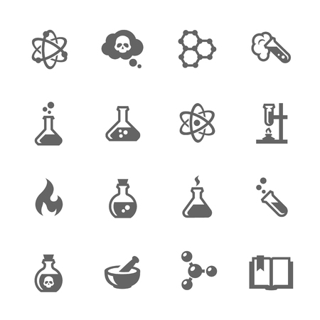 Simple Set of Chemical Related Vector Icons for Your Design.