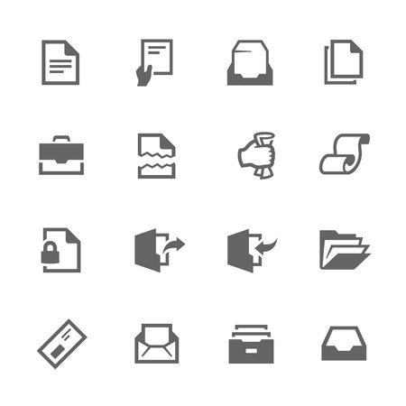 docket: Simple Set of Documents Related Vector Icons for Your Design. Illustration