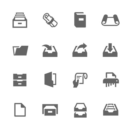 docket: Simple Set of Document Related Vector Icons for Your Design. Illustration