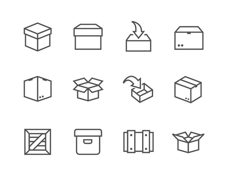 crates: Simple set of box and crates related vector icons for your design