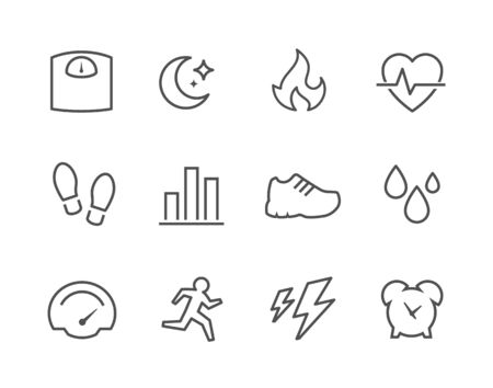 foots: Simple Set of Activity Tracking Related Vector Icons for Your Design.