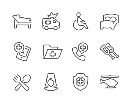 special service: Simple Set of Medical Transportation Related Vector Icons for Your Design.