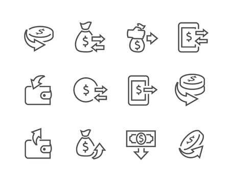 stock quotes: Simple Set of Money Related Vector Icons for Your Design.