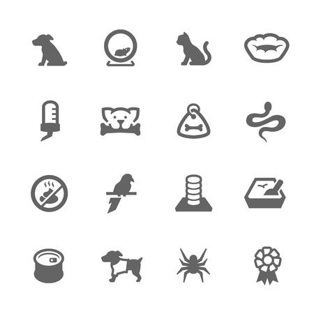 Eenvoudige reeks dieren gerelateerde vector iconen voor uw ontwerp.