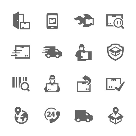 Simple Set of Shipping and Delivery Related Vector Icons for Your Design.