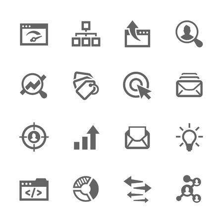 mail man: Simple Set of SEO Related Vector Icons. Contains such icons as mailing, target audience, tags, ideas, statistics, optimisation and more.
