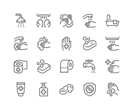 Lijnhygiëne pictogrammen