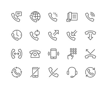 Line Phone Icons Illustration
