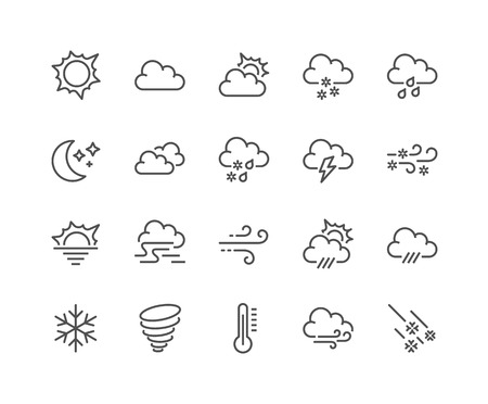 Line Weather Icons