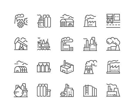 Line Factories Icons