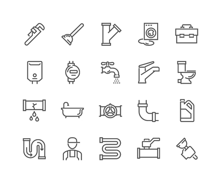 Line Plumber Icons