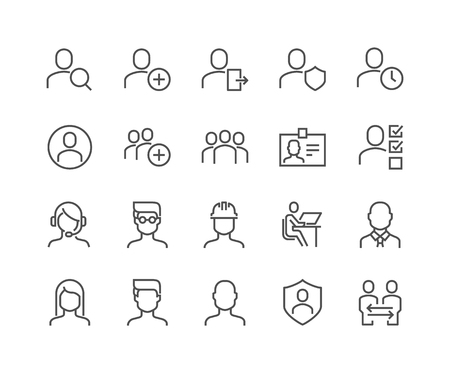Line Users Icons
