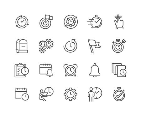 Linienzeitverwaltungssymbole