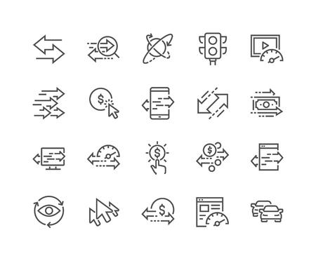 Line Traffic Icons Illustration