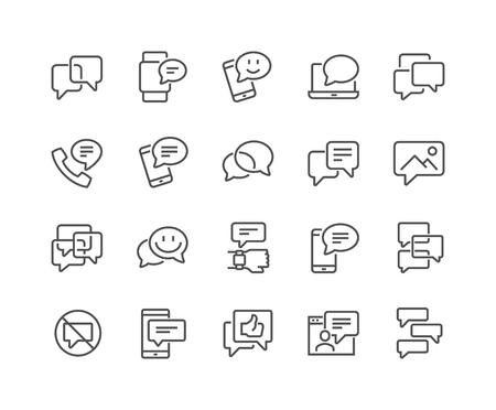Ikony komunikatów liniowych