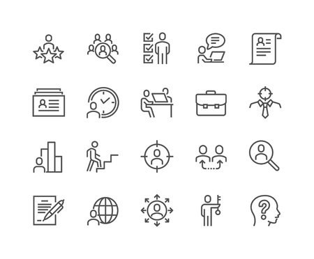 Line Head Hunting Icons Standard-Bild - 105058669