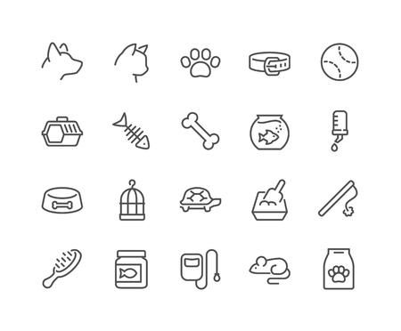 iconos de línea mascota