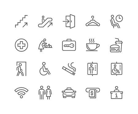 iconos de navegación público línea