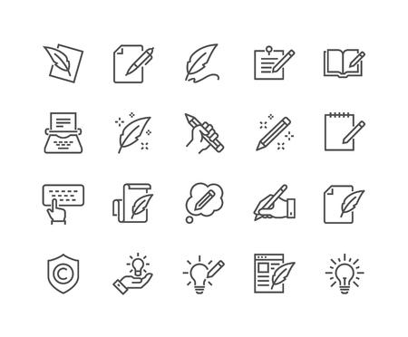 Icone di copywriting di linea