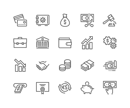 Line Finance Icons