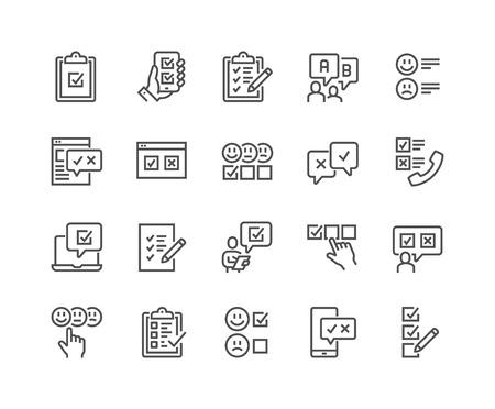 Iconos de encuesta de línea