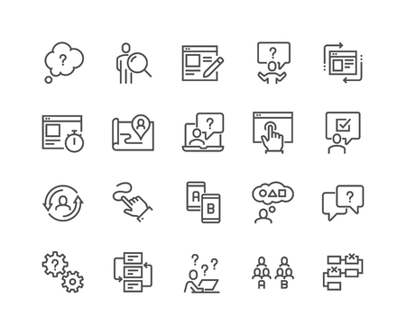 Line UI and UX Icons Illustration