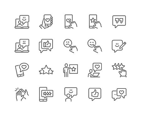 Iconos de retroalimentación de línea