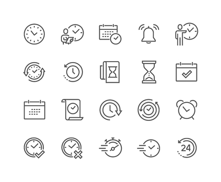 Line Time Icons Stock Vector - 104416166