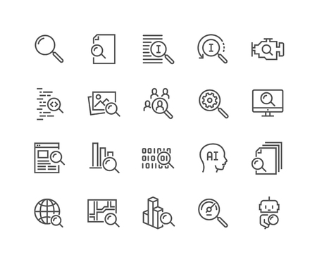 Line Search Icons
