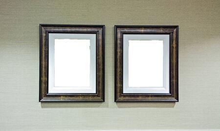 Frame on white wall  版權商用圖片