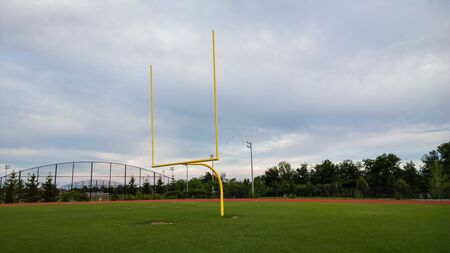 uprights: View of football goal post.