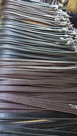 emporium: Belts at the Market Stock Photo