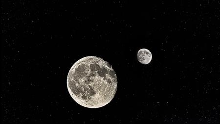 flicker: Moon with stars in sky