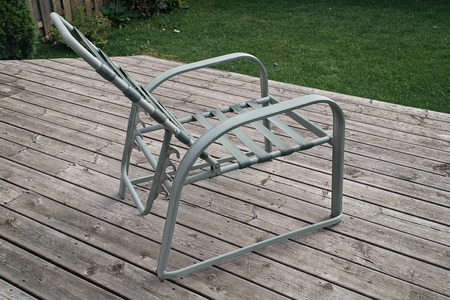 footstool: deck chair Stock Photo