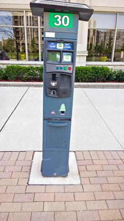 m�quina: PArking ticket machine Foto de archivo