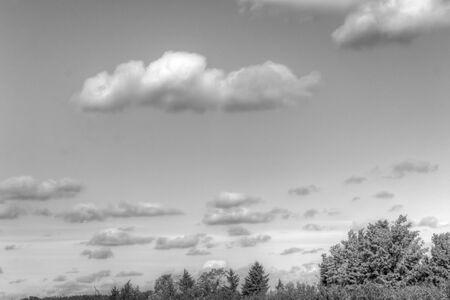 eagle falls: Fall clouds Stock Photo