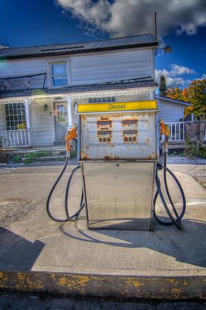 run down: Run down gas station Stock Photo