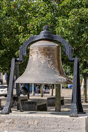 devise: old bell Stock Photo