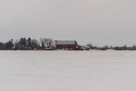 barns winter: Deserted Barn