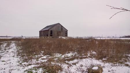 barns winter: Deserted Homestead