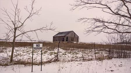 verlaten Homestead Stockfoto