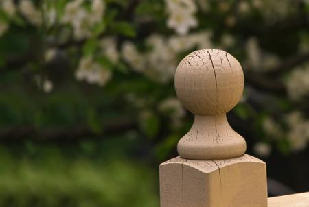 knob: Wooden knob Stock Photo