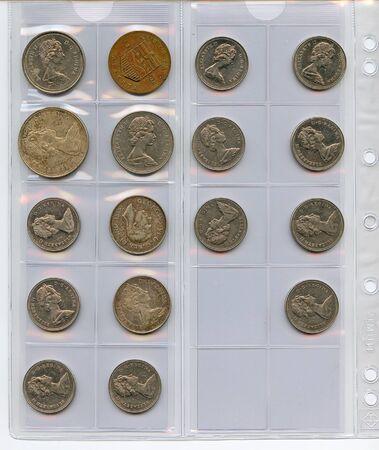 Munt verzamelen Stockfoto