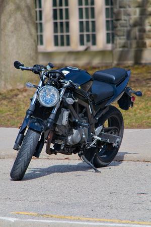 Motorcycle in closeup shot