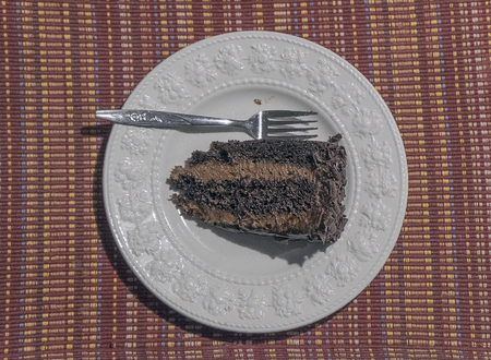 Chocolate cake on the table