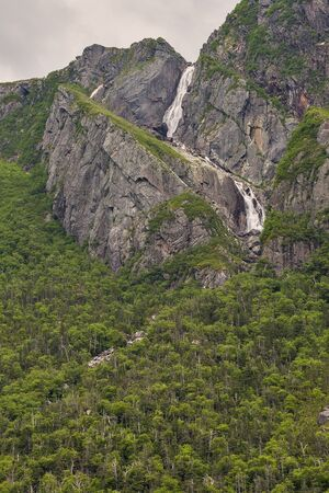 waterfall in gros morne national park