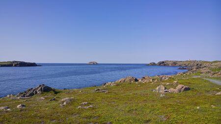 Cape Bonavista, Newfoundland rocky coastline.