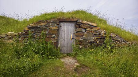 Newfoundland root cellar with rocks