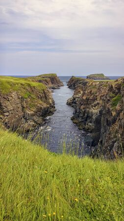 Newfoundland coast line in Canada.